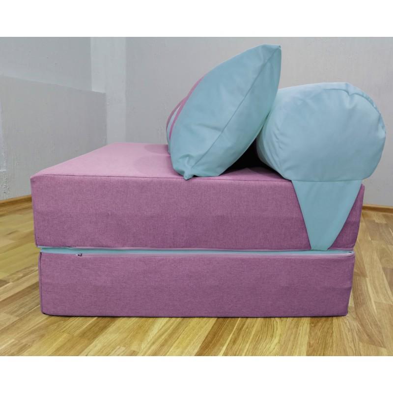 Диван Sofa Roll Long  фиолетово-голубой
