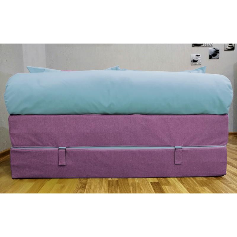Диван Sofa Roll фиалетово-голубой