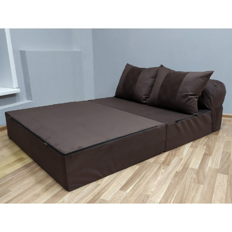 Диван трансформер Sofa Roll Горький Шоколад
