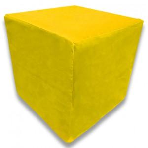Пуф Кубик Желтый(Велюр)
