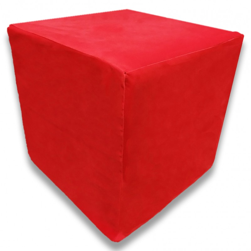 Пуф Кубик Красный(Велюр)
