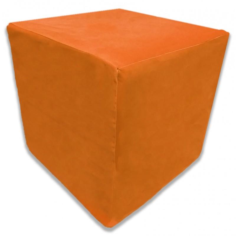 Пуф Кубик Оранжевый(Велюр)