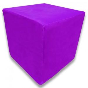 Пуф Кубик Фиолетовый (Велюр)