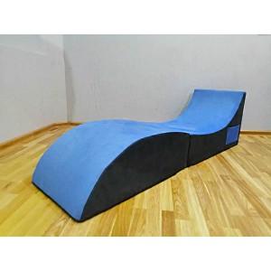 Кресло-мешок Лежак ткань Велюр  (Пенополиуретан)