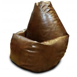 Кресло-мешок Груша Коричневая (Экокожа)