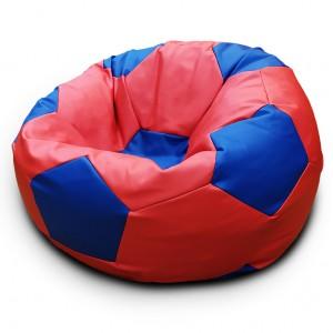 Кресло-мешок Мяч Красно-Синий (Экокожа)