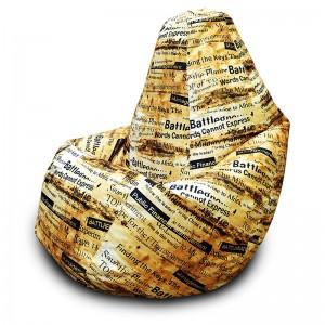Кресло-мешок груша Газета на Рогожке