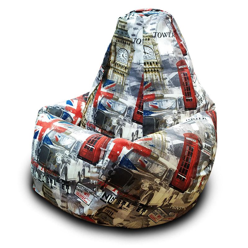 Кресло-мешок Груша Лондон Бас (Жаккард)