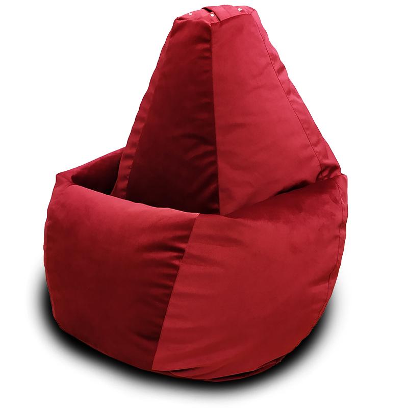 Кресло-мешок груша Бордовый (Велюр)