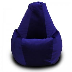Кресло-мешок груша Тёмно-синий (Велюр)