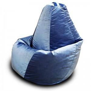 Кресло-мешок груша Серо-голубой (Велюр)