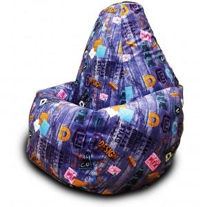 Кресло-мешок груша Дисижн Виолет (Велюр)