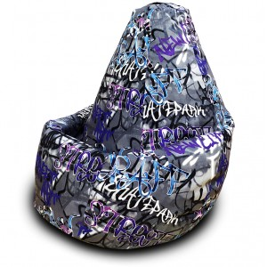 Кресло-мешок груша Стрит-арт (Велюр)