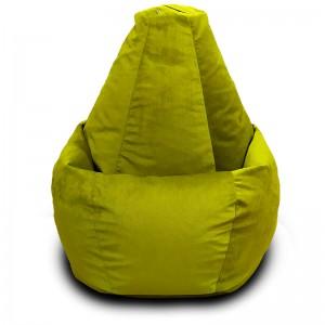 Кресло-мешок груша Салатовый (Велюр)