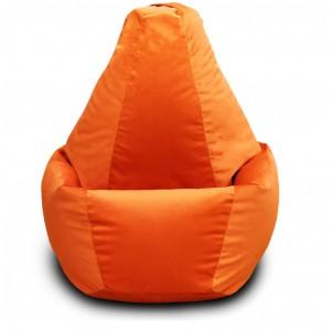 Кресло-мешок груша Оранжевый (Велюр)