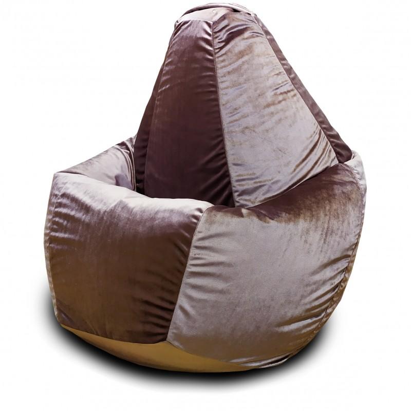 Кресло-мешок груша Пудровый (Велюр)