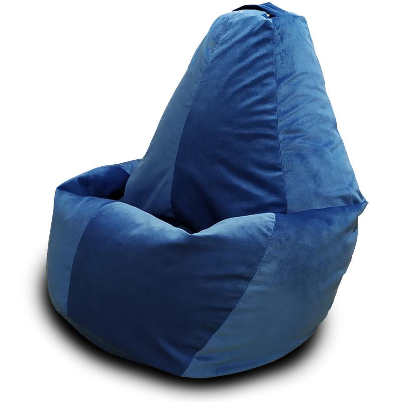 Кресло-мешок груша Пурпурно-синий (Велюр)