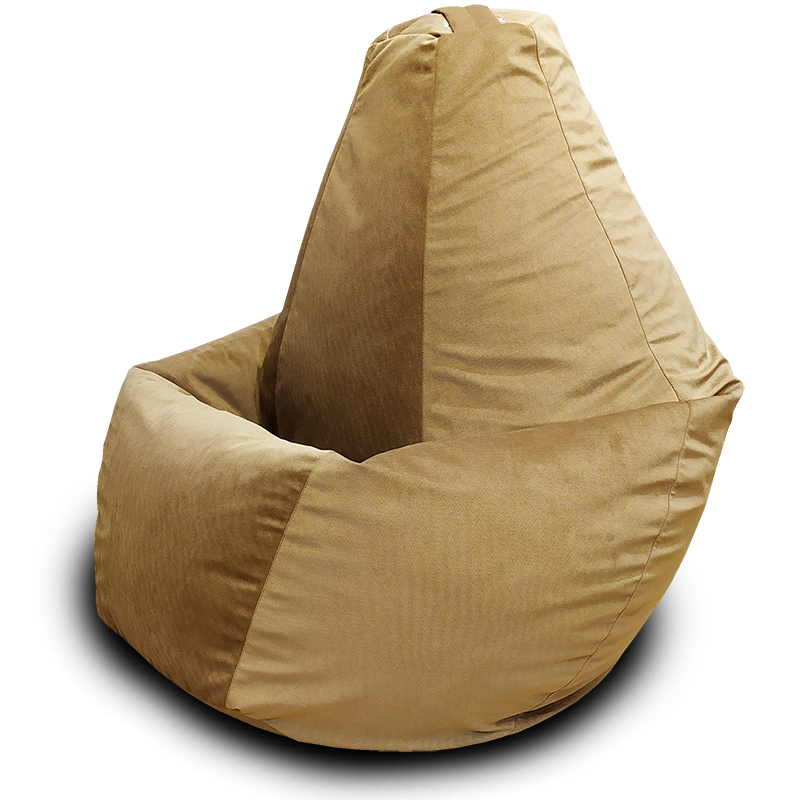 Кресло-мешок груша Бежевый (Велюр)