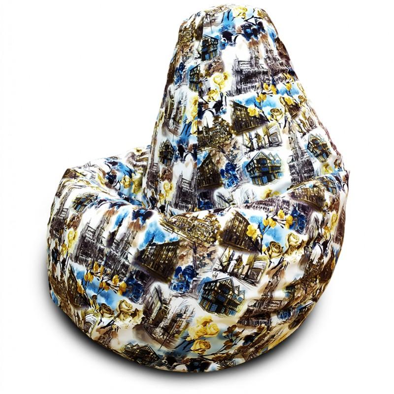 Кресло-мешок груша Старый город (Велюр) XXXL