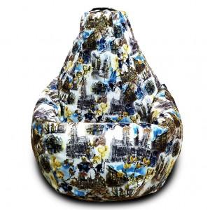 Кресло-мешок груша Старый город (Велюр)