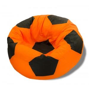 Кресло-мешок Мяч Оранжево-Черный