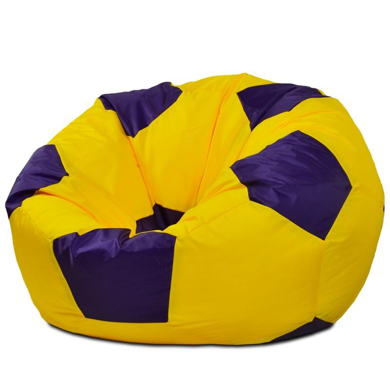 Кресло-мешок Мяч Желто-Фиолетовый