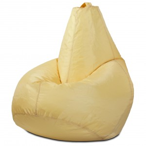 Кресло мешок груша Бежевая, материал Дюспо