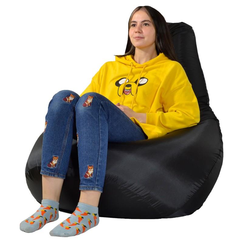 Кресло-мешок груша Черный XXL (Оксфорд)
