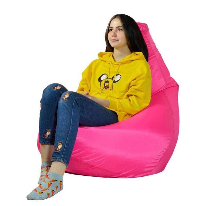 Кресло-мешок Груша Розовый (Дюспо)