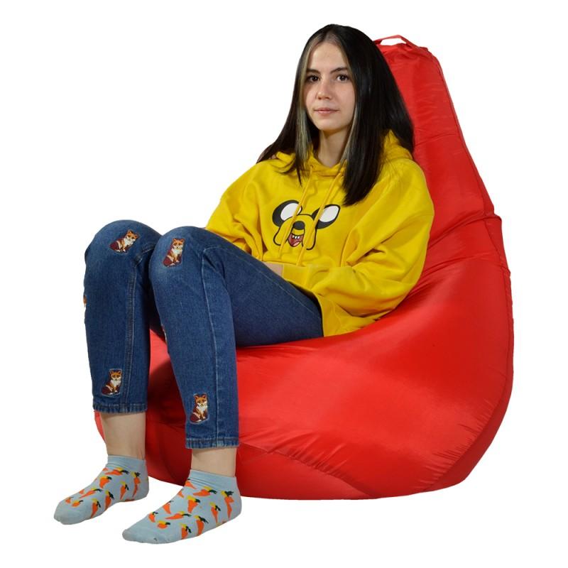Кресло-мешок груша Красный XXL (Оксфорд)