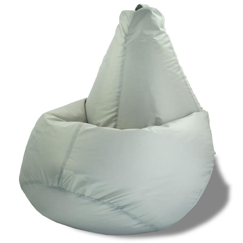 Кресло-мешок Груша Светло-серый (Оксфорд)