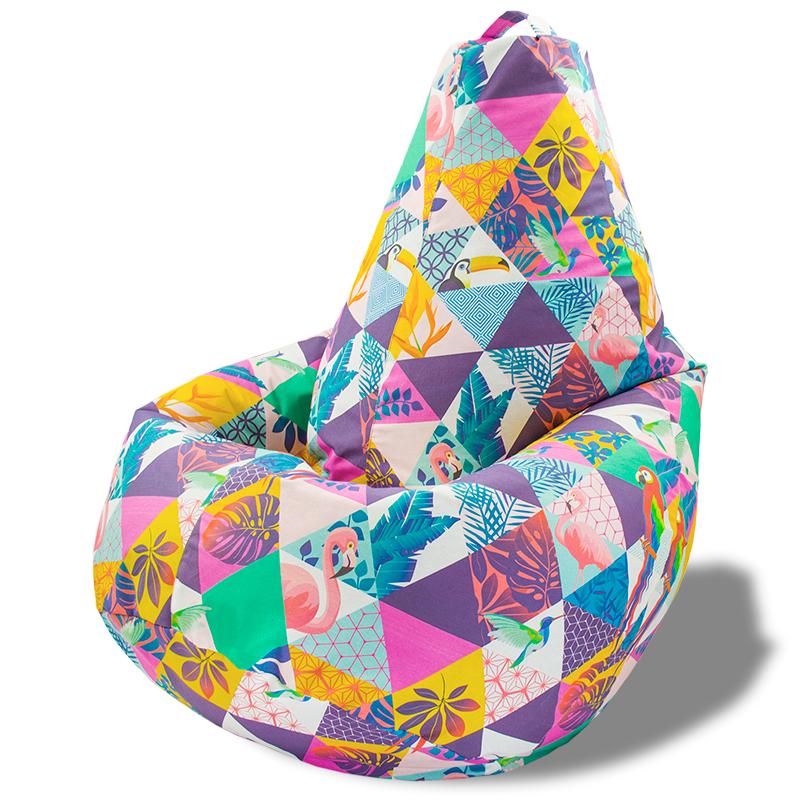 Кресло-мешок Груша Фламинго (Жаккард)