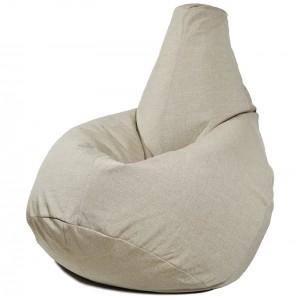 Кресло-мешок груша Молочная (Рогожка)