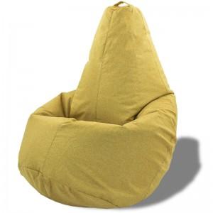 Кресло-мешок груша Бежево-коричневая (Рогожка)