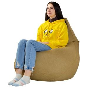 Кресло-мешок груша Горчичная (Рогожка)