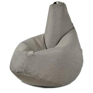 Кресло-мешок груша Песочно-серый (Рогожка)