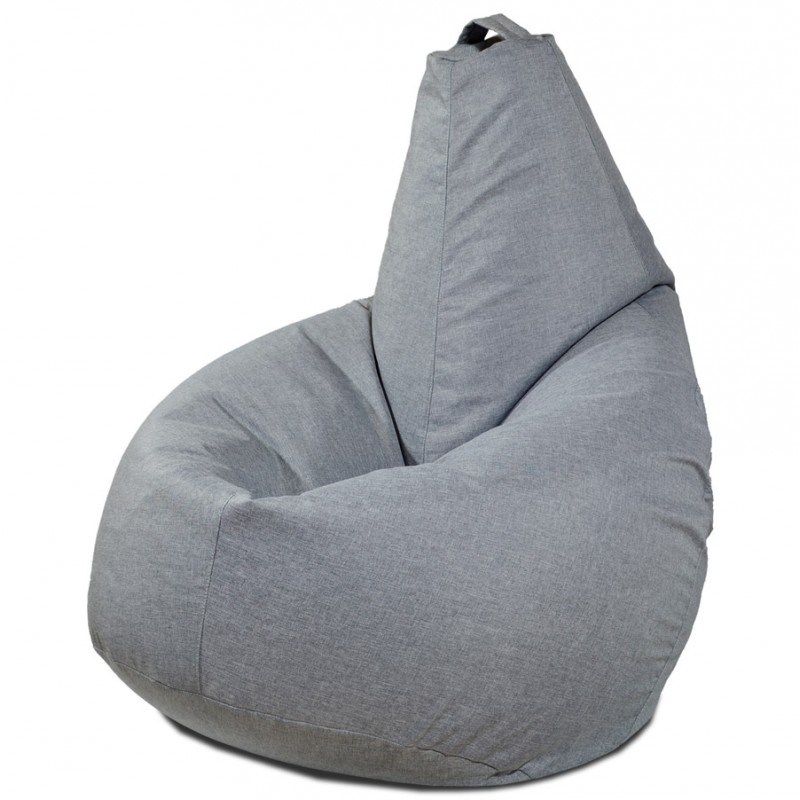 Кресло-мешок груша Светло-серый (Рогожка)
