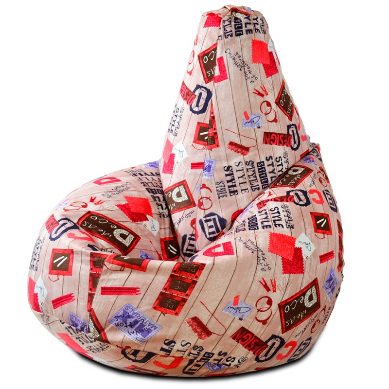 Кресло-мешок груша Deco Style (Велюр)