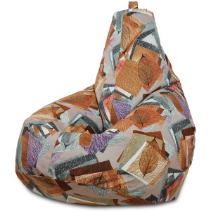 Кресло-мешок груша Leaves Art (Велюр)