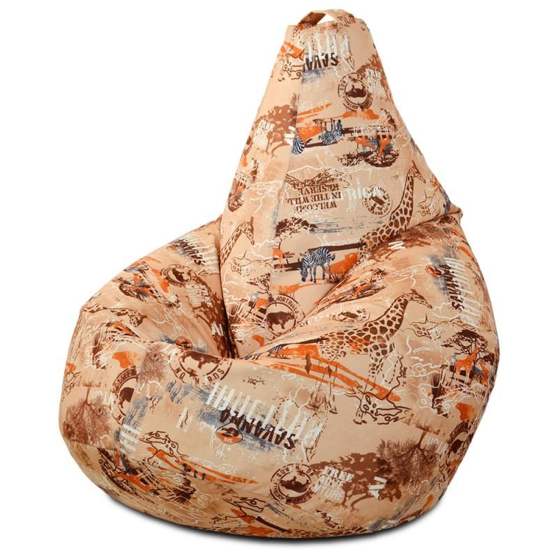 Кресло-мешок груша Сафари (Велюр)