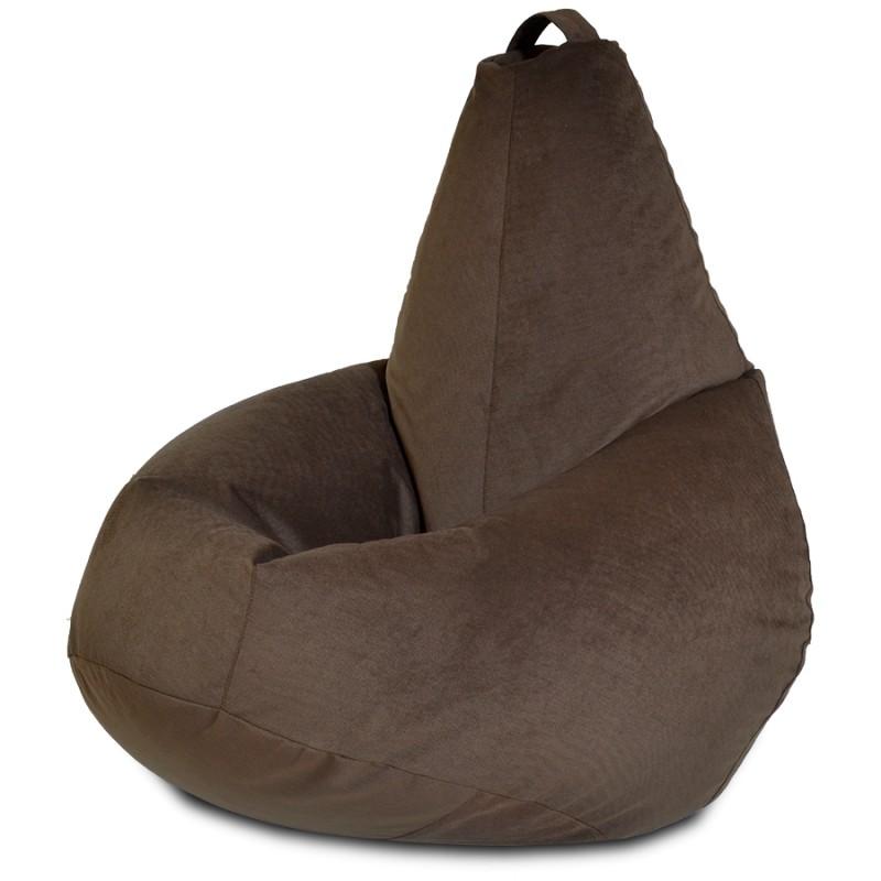 Кресло-мешок груша цвет Шоколадный (Велюр)