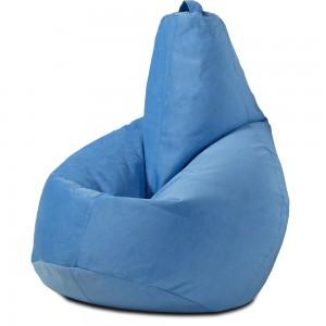 Кресло-мешок груша Светло-голубой (Велюр)