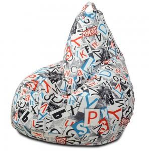 Кресло-мешок груша Буквы (Велюр)