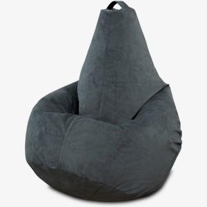 Кресло-мешок груша Серый (Велюр)