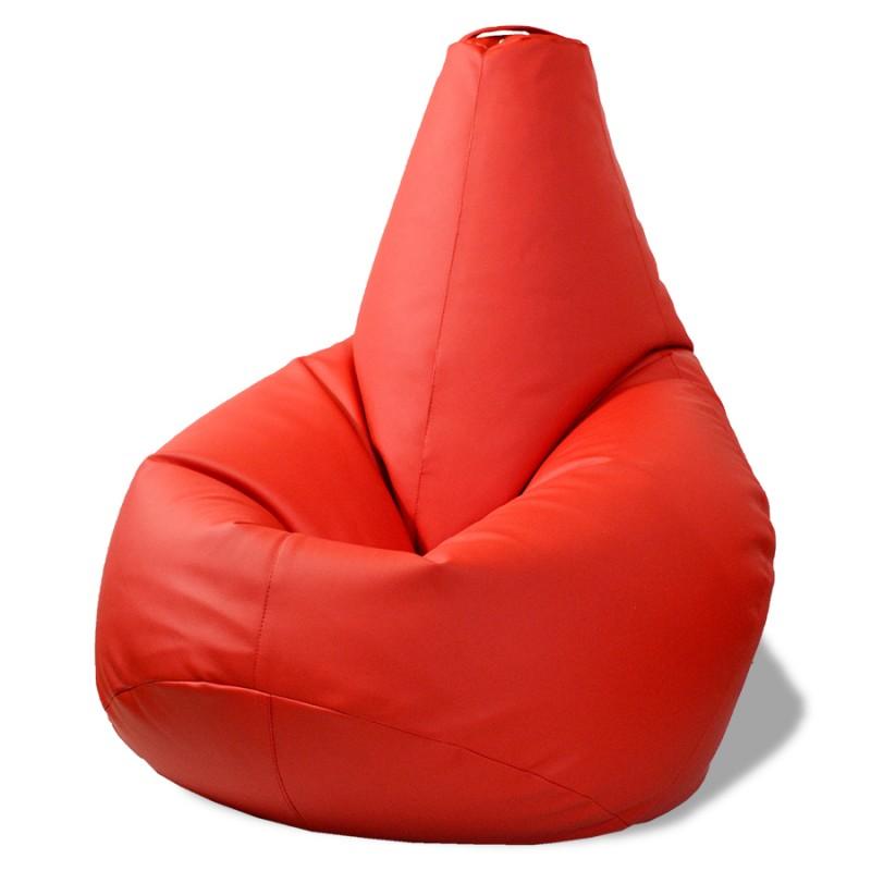 Кресло-мешок Груша Красный (Экокожа)