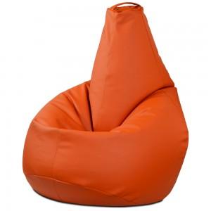 Кресло-мешок Груша Оранжевая (Экокожа)