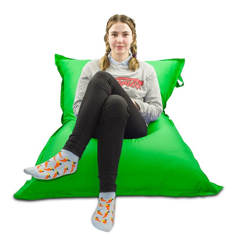 Мягкое кресло-мешок Подушка  цвет Зеленый (материал Дюспо)