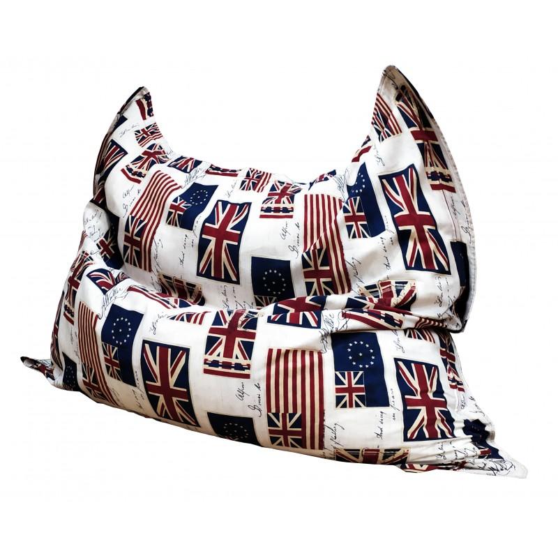 Кресло мешок Подушка Relax Флаг (материал Жаккард)