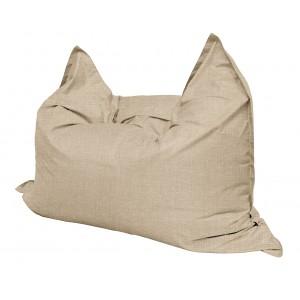 Кресло мешок Подушка Relax цвет Бежевый (материал Рогожка)