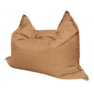 Кресло мешок Подушка Relax цвет Рыжий (материал Рогожка)